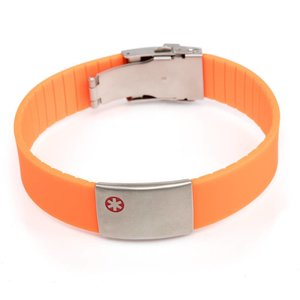 Icetags Medic alert bracelet Orange
