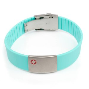 Icetags Allergie armband Turquoise
