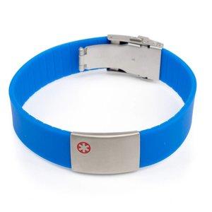 Icetags Armband medische gegevens Blauw