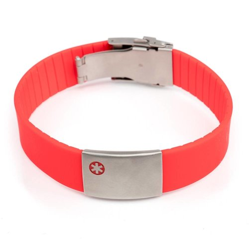 Icetags Medical ID bracelet red