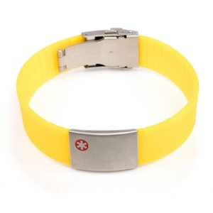 Icetags Medische naam armband geel