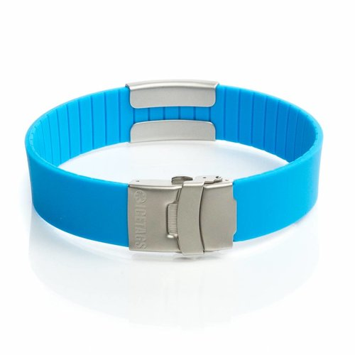 Icetags Allergy ID bracelet light blue