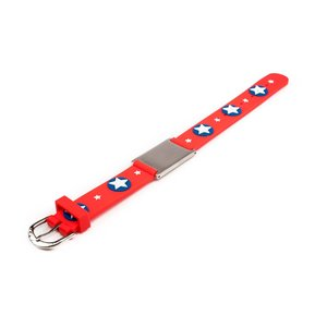 Icetags Child ID bracelet red stars