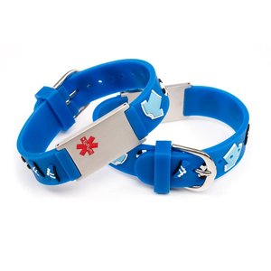 Icetags medische armband kind voetbal blauw