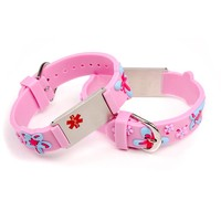 Medical allergy bracelet light pink