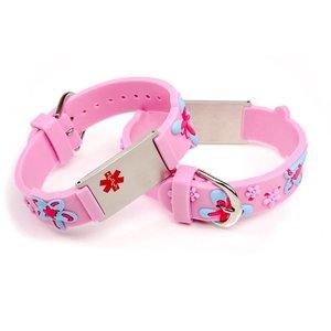 Icetags Medical allergy bracelet light pink