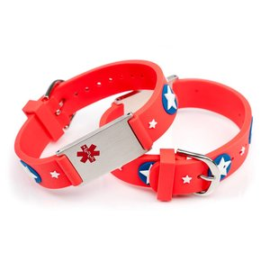 Icetags Allergy alert bracelet kids red