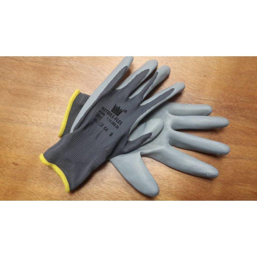 Handschoen Nitrile-flex mt 8-1