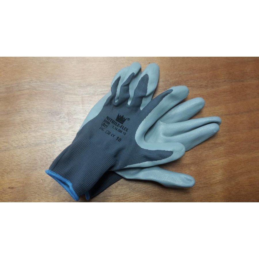 Handschoen Nitrile-flex mt 8-5