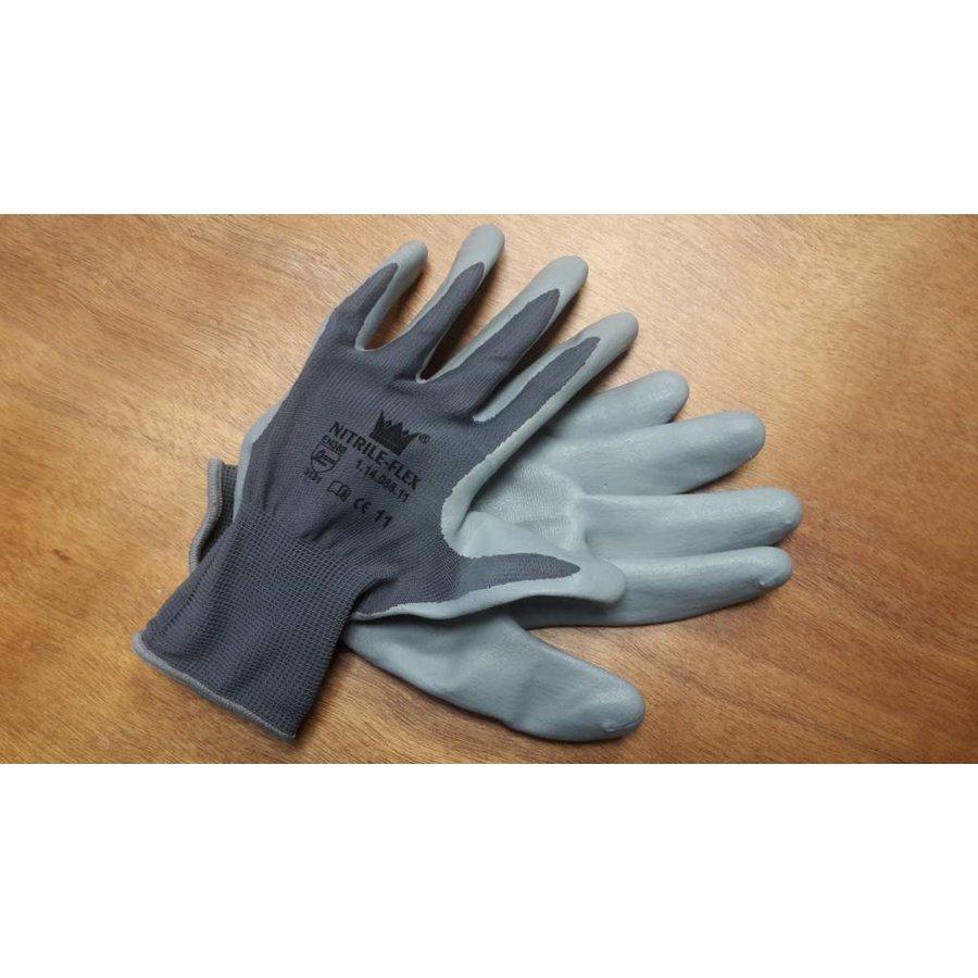 Handschoen Nitrile-flex mt 8-6