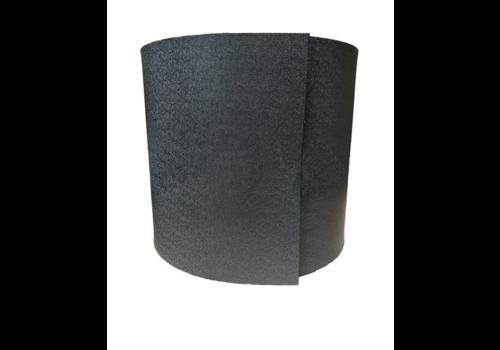 Gietrand zwart 30cm x 20m x 3mm