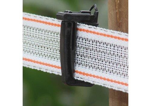 Schriklint 40mm wit/rood PE versterkt