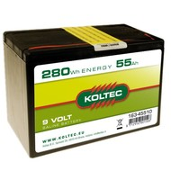 Koltec Batterij 9 Volt - 280Wh - 55Ah Zink-kool