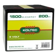 Koltec Batterij 9 volt - 1500 Wh - 200Ah Alkaline