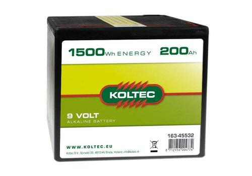 Batterij 9 volt - 1500 Wh - 200Ah Alkaline