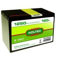Koltec Batterij 9 Volt - 1250Wh - 160Ah Alkaline