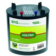 Koltec Batterij 6 Volt - 510Wh - 100Ah Alkaline voor ST paddestoel
