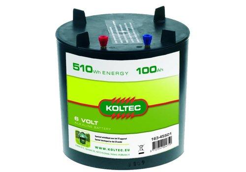 Batterij 6 Volt - 510Wh - 100Ah Alkaline voor ST paddestoel