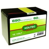 Koltec Batterij 12 Volt - 690Wh - 60Ah Alkaline