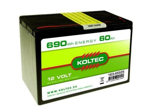 Batterij 12 Volt - 690Wh - 60Ah Alkaline