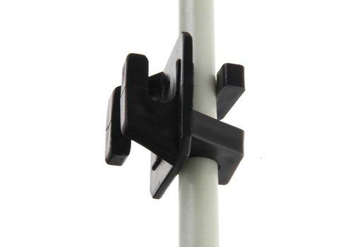 Klikisolator(zwart) voor palen met 6mm doorsnede