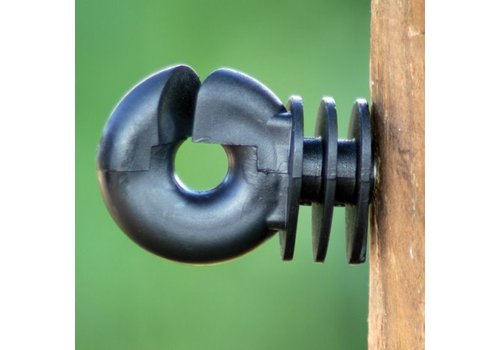 Ringisolator met doorlopende kern voor houten palen.