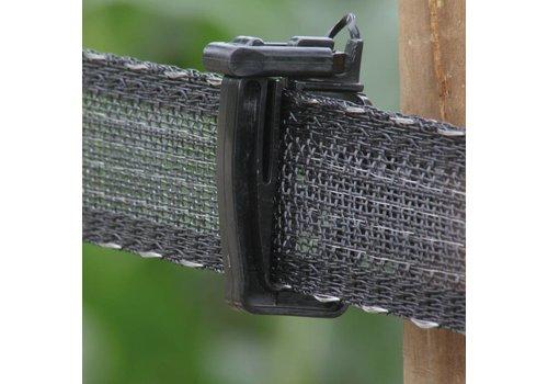Schriklint 40mm zwart PE versterkt