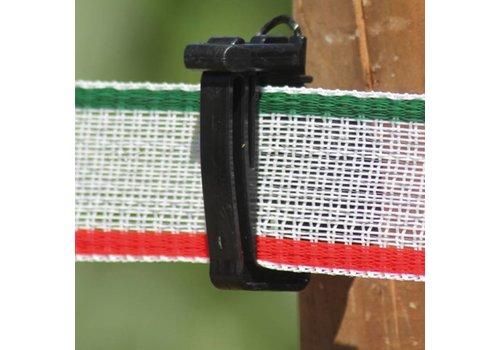 Schriklint 40mm wit/groen/rood PE, 200m