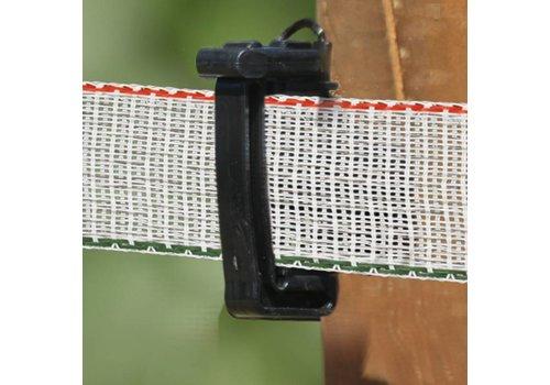 Schriklint 40mm wit/groen/rood PE, 100m