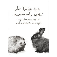 Prints Eisenherz Miniposter LIEBE tut nunmal weh