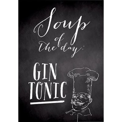 Prints Eisenherz Miniposter SOUP of the day - Gin Tonic