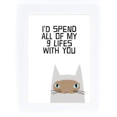 Prints Eisenherz Miniposter I´d spend all of my 9 lifes