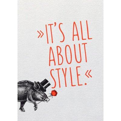 Butt Papierkram POSTKARTE it´s all about style
