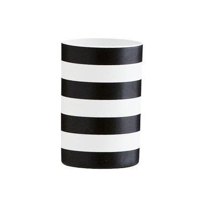 TEELICHT schwarz-weiß gestreift