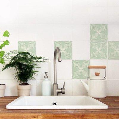Nuukk FLIESENAUFKLEBER Sixties grün 4 Stück. in 2 Größen
