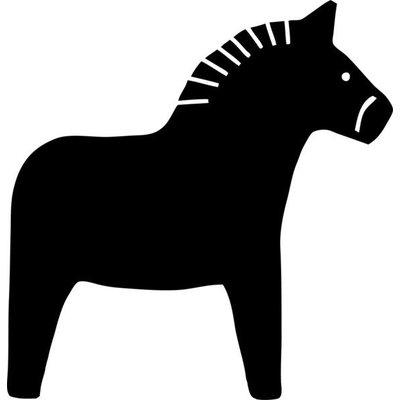 Nuukk TAFELSTICKER Pferd 60x60 cm