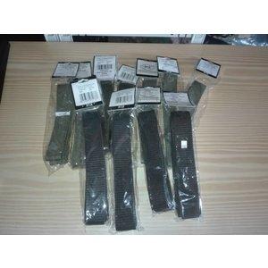 10x Gürtel, mit Klettverschluß, oliv und schwarz diverse Längen