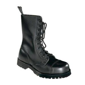 6x Boots and Braces 10-Loch Stiefel, schwarz - Super Preis! Restposten! Lagerauflösung
