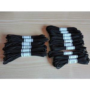 16x Schnürsenkel, schwarz, Länge 210 cm und 190 cm