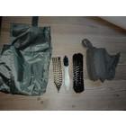 Original Militär BW shoe cleaning bag, olive, used