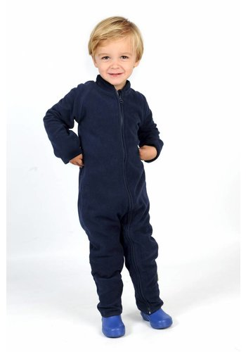 CeLaVi Fleece bodysuit , navy blue jumpsuit