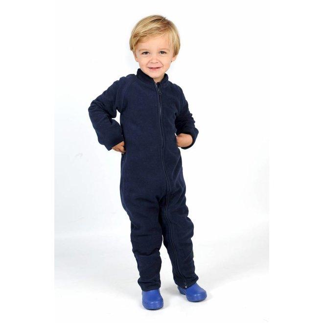 Fleece pak onesie, jumpsuit navy blauw  68-104