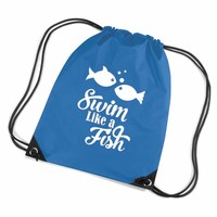 thumb-Swimming bag with fish and funny text-1