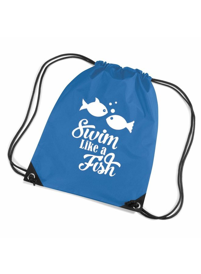 Swimming bag with fish and funny text