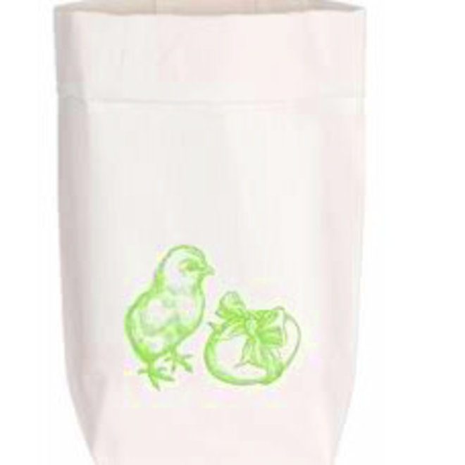 Paperbag met met kuikens en eieren