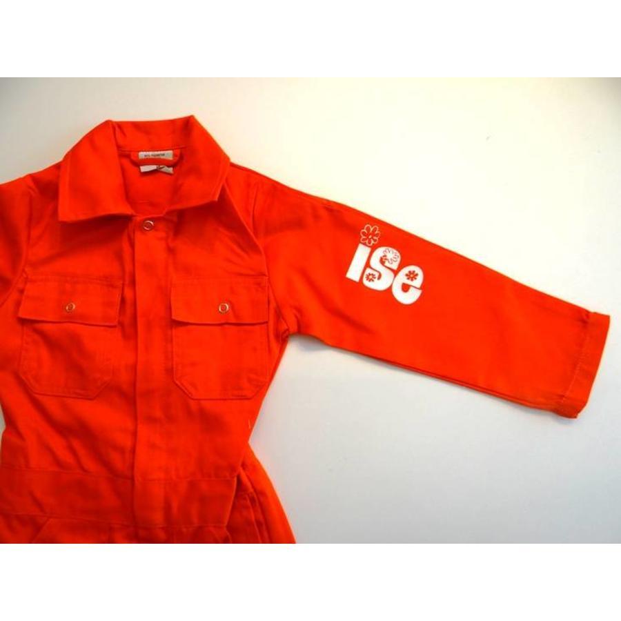Oranje overall met naam of tekst bedrukking-1