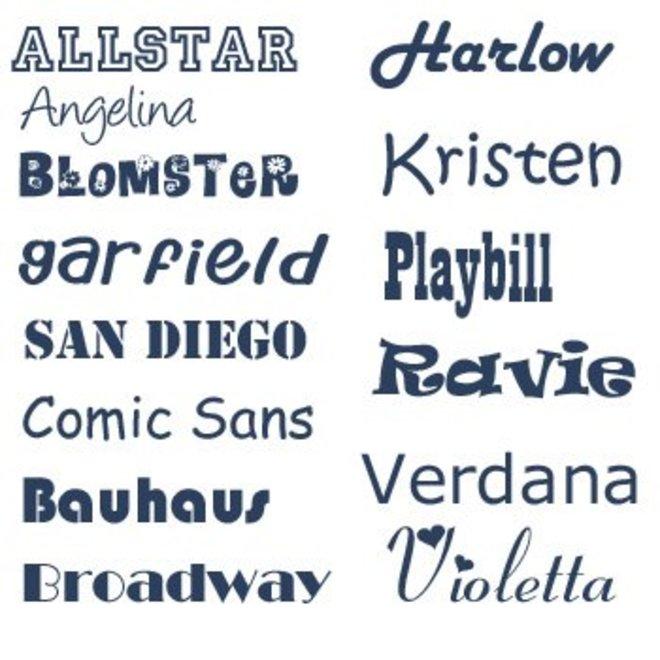 Monogram with name print