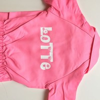 thumb-Pink overall with name or text printing-6