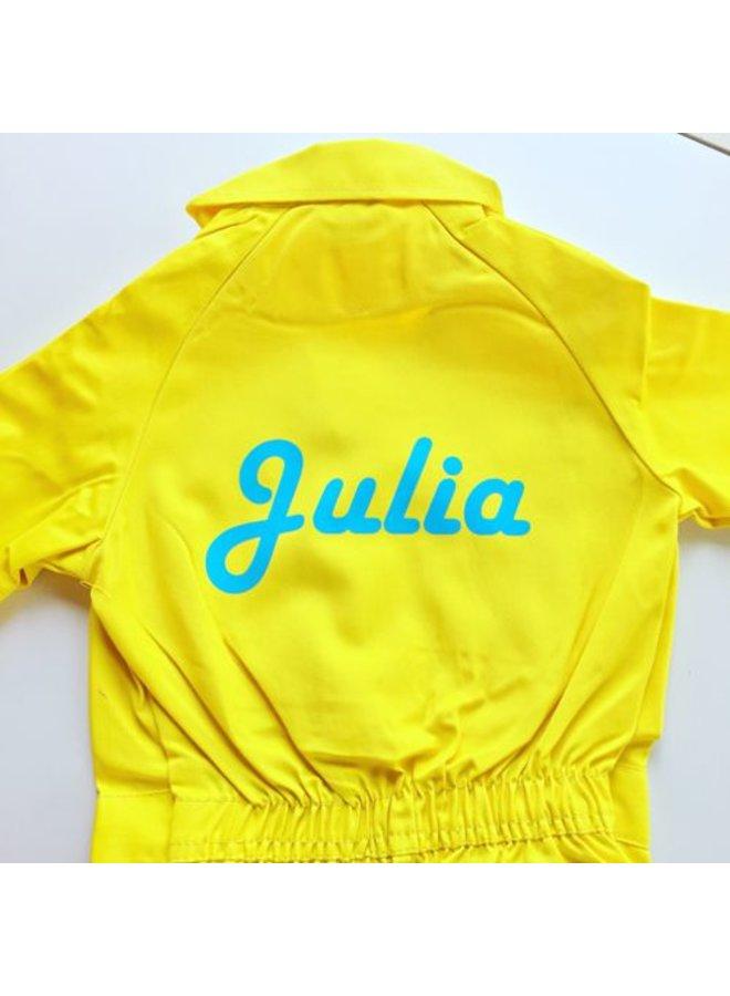 Printed children's overalls | yellow