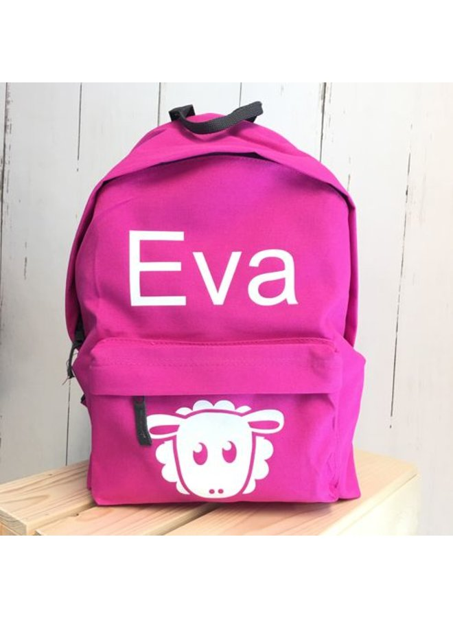 Backpack with name print and sheap